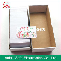 Wholesale Epson Tray - Free Shipping 100PCS Lot PVC Plastic White Inkjet Card (No Chip) Printable By Epson or Canon Printer with Card Tray