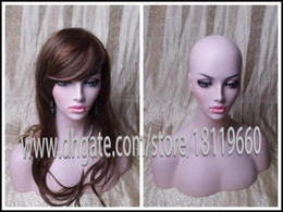 Wholesale Eyelash Wigs - High Quality upper-body Fiberglass model Lovely women female Mannequin Head for wigs  Jewelry Display Realistic eyelashes and ears Hot