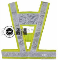 Wholesale Reflective Overalls - High - Visibility Reflective Vest overalls Safety Vest Sanitation vest5pcs lot