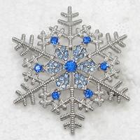 yılbaşı pin kar tanesi toptan satış-Toptan Rhinestone Noel Kar Tanesi Pin broş Kolye C101927