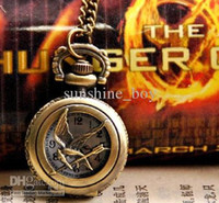 Wholesale Retail Hunger game antique watches pocket womens pocket watches pocket watch pendants Fashion pendant necklace