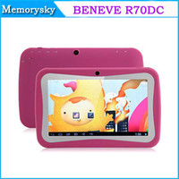 Barato Comprimidos De Polegada De Venda-Hot Sale Android 4.2 BENEVE R70DC Crianças Tablet PC 7 polegadas Android Tablet PC RK3028 Dual Core Tela Capacitiva 1G 8G 002134