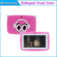 Wholesale rockchip dual core tablet resale online - cute gift quot Capacitive Screen Kidspad Dual core Android Children Education tablet pc M GB Cute Tablet PC for kids