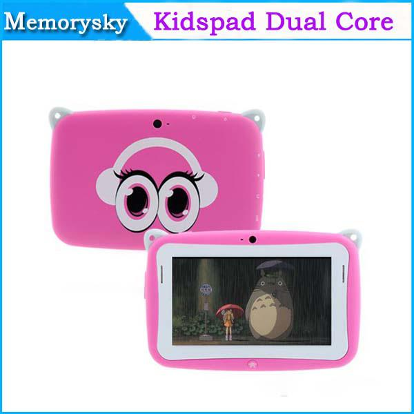 "cute gift! 4.3"" Capacitive Screen Kidspad Dual core Android 4.2 Children Education tablet pc 512M 4GB Cute Tablet PC for kids 002133"