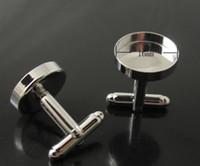 Wholesale Blank Sterling Silver Cufflink Wholesale - Freeshipping, high quality sterling silver cufflink base, cufflink blank, cufflink size16mm,The copper sterling silver