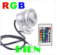 10W RGB Flood éclairage sous-marin conduit aquarium lampe piscine 1pcs étanche IP65 DC 12V Convex Lens Expédition gratuite / lot