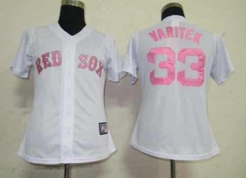 c6814c75 ... 2017 Womens Baseball Jersey Boston Red Sox 33 Jason Varitek White Pink  Stitching Jersey Cool Base .