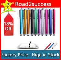 Wholesale tablet pc free shipping for sale - Group buy Stylus Pen Universal Capacitive Stylus Touch Pen for iPhone iPad Tablet PC Cellphone DHL Fedex CH8562128