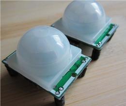 Detector Module Canada - Free shippping 10pcs lot HCSR501 HC SR501 NEW Adjust Infrared IR PIR Motion Sensor Detector Security Module . wholesale