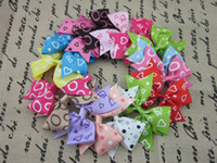 Wholesale Silk Hair Bows For Girls - HOT ribbon hair bows for children hair accessories, boutique bows WITHOUT CLIP for baby girls,32pcs lot free shipping