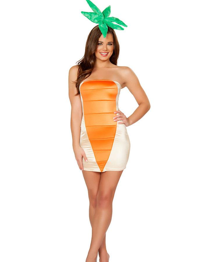 Sexy Halloween Costumes For Women Carrot Costume Golden Foil Strapless Dress Head Piece Vegetable Uniforms Outfits H39248 Halloween Group Costumes Easy To ...  sc 1 st  DHgate.com & Sexy Halloween Costumes For Women Carrot Costume Golden Foil ...