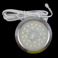 Wholesale 12v Furniture Lights - 12V DC 24 SMD 3528 Dimmable Under LED Cabinet Spot Light 120lm 1.5w Round Ultra-Thin Furniture Downlight
