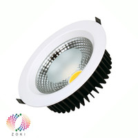 Wholesale Downlight House - 5W Dimmable COB LED Downlight Equal to 60W Halogen Bridgelux Chip Warranty 3 Years Thick Housing CE RoHS Free Shipping