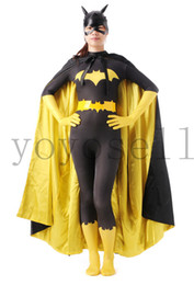 Wholesale Sexy Scary Costumes - catsuits Lycra Spandex sexy women superhero zentai suits halloween costumes