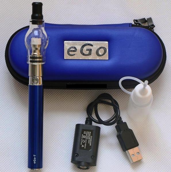 eGo Glass tank Globe Wax E-cigarette kits Atomizer Clearomizer 650mah 900mah 1100mah ego-T battery ego kit in Zipper Carry case DHL Free
