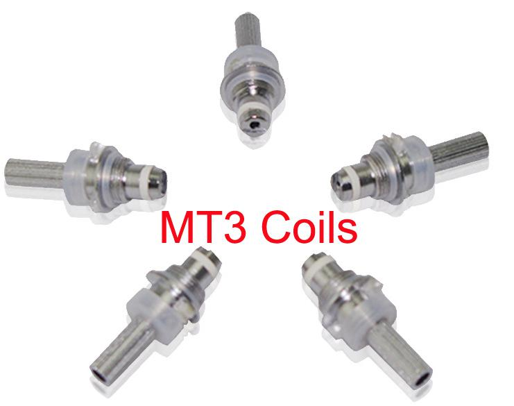 No Cotton Wick MT3 core Electronic Cigarette Replacement Atomizer Core Head Detachable Rebuildable MT3 Clearomizer Coil for eVod BCC Tank
