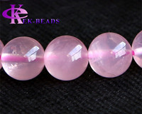 Wholesale High Quality Discount Jewelry - Discount Wholesale High Quality Genuine Natural Rose Quartz Pink Crystal Finished Stretch Bracelet Round Big Beads 10mm DIY Jewelry 02984