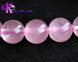 Wholesale High Quality Stretch Bracelets - Discount Wholesale High Quality Genuine Natural Rose Quartz Pink Crystal Finished Stretch Bracelet Round Big Beads 10mm DIY Jewelry 02984