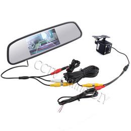 "Wholesale Rear View Mirror Lcd Screen - 4.3"" Screen TFT LCD Car Rear View Rearview Mirror Monitor + Backup Camera"