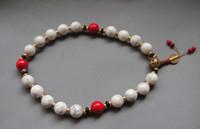 Wholesale Mala Turquoise - 12mm tibet tibetan White Bodhi buddhist buddha worry prayer bead mala bracelet