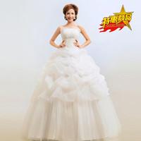 prinzessin brust großhandel-W-2 Braut Hochzeitskleid Schöne Lace-up White Sleeveless Elegant Sweet zum Boden Prinzessin Wrapped Chest Ballkleid Brautkleid