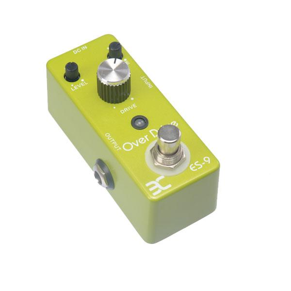 Eno Music EX Mikro OD-9 ES-9 Classic Over Drive Gitarreneffektpedal Metallgehäuse Kompakt Klein True Bypass MU0132
