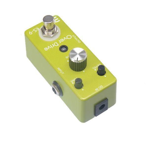 Eno Música EX Micro OD-9 ES-9 Clássico Over Drive Pedal Efeito de Guitarra De Metal Shell Tamanho Compacto Pequeno True bypass MU0132
