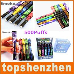 Wholesale E Cig Stickers - E Cigarette 500puffs E-shisha pen Hookah Electronic Cigarette Rich flavored e cig ego Electronic Cigarette Smoking with hookah sticker