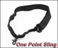 Wholesale one point adjustable sling for sale - Group buy High Strength One Point Adjustable Sling Single Point Rifle Gun Bungee Cord Black