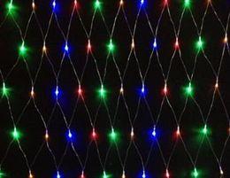 4W 1.5 Metro x 1.5 Metro Magic Christmas Garland Decoración 96Pcs LED Net luces AC110 ~ 230V Entrada 2 años de garantía, PVC transparente línea desde fabricantes