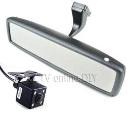 """Wholesale Hd Tft Monitors - Brand New 4.3"""" TFT-LCD Special Rear View Mirror Car Monitor with Bracket + CCD HD Night Vision Rear View Back Up Camera"""