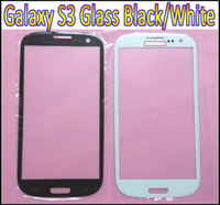 Wholesale Screen Glass S3 Black - Black and White Front Outer Screen Glass Lens Digitizer Cover Glass for Samsung Galaxy S III S3 i9300