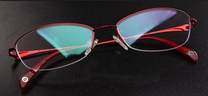 New Titanium Eyeglass Frames Red Or Pink Color Womens Lady