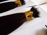 nano ring hair achat en gros de-MIRACLE 100beads + 100g extensions de cheveux REMY pour cheveux humains MICRO NANO RINGS humains de 100