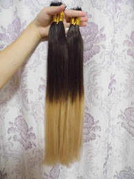Dip Dye hair extensions online shopping - ON SALE Stock MIRACLE quot quot g s g MICRO NANO RING HAIR ombre two tone dip dye T color hair extensions Indian Remy HAIR Human