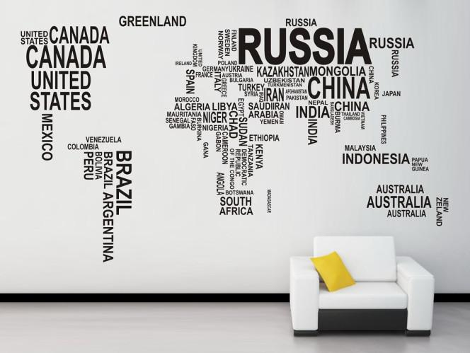 World map wall sticker map of the world for learning study black world map wall sticker map of the world for learning study black wall decor art words sayings vinyl wall decals 6090cm3 wall art decals trees wall art gumiabroncs Images