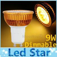 Wholesale E27 12v Saving - 9W Dimmable Led Lights GU10 E27 E26 GU5.3 MR16 3X3W High Power Led Bulbs Light Warm Cool White Energy Saving Led Lamps AC 110-240V  DC 12V