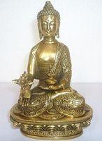Wholesale Tibetan Brass Buddhas - Tibet Tibetan Buddhism Bronze Medicine Buddha Statue