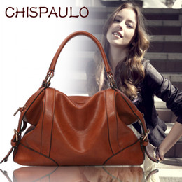 Wholesale Designer Handbags Free Shipping - NEW The Female Leather Women Bags 2017 Hot Women Genuine Leather Women Messenger Bag Vintage handbag designer Retro Bags FREE SHIPPING