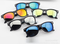 Wholesale Rivet Mixed - new fashion hot sale children reflective glasses rivet kids sunglasses boy girl cool multi color wholesale free shipping