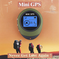 Wholesale Handheld Mini Gps Navigation Usb - 1pc Mini Handheld protable Keychain GPS Navigation USB Rechargeable for Outdoor Sport Hiking H4012