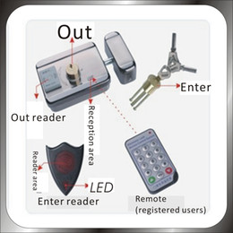 Wholesale Electronic Door Locks Key - Free shipping DIY 125KHz Rfid Keypad Access Control System Kit + Electronic Door Lock +12V-1A Power Supply+20 Pcs KEY card