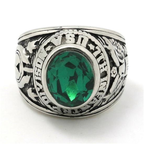 Cool Wedding Rings.Hot Top Quality Green Crystal Cool Wedding Ring Mens Boys 316l Stainless Steel Punk New Crystal Ring