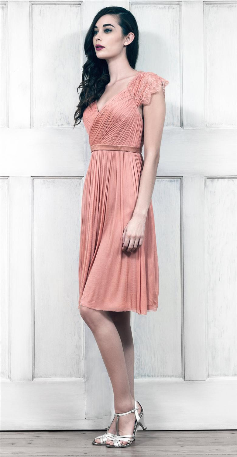 Compre A Line Sweetheart Tulle Wrap Dress Con Encaje Sheer Back Y ...