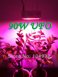 Wholesale Indoor Hydroponic Growing Systems - QUAD-BAND 90W LED Grow Light Hydroponic Plant Grow Light Indoor Hydroponic System Plant UFO 30*3W led light