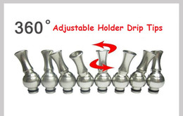 Wholesale Dct Atomizer Clearomizer Cartomizer - Rotatable Stainless Steel Drip Tip Metal Drip Tips for 510 DCT Vivi Nova Atomizer Cartomizer Clearomizer Ecigs