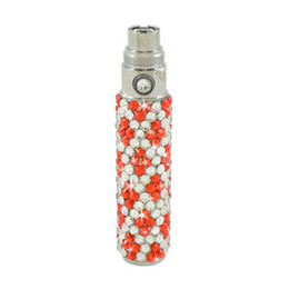 Wholesale E Cigarettes Diamond - Ego diamond crystal battery luxury 650mah bling vape pen electronic cigarette colorful e cig ego g fashionable ecig fit ce4 aro tank bdc m3