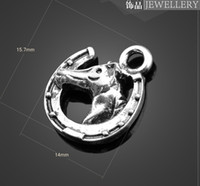 Wholesale Horse Earring Charms - Sale! 13113 vintga horse head Charms Necklace Pendants earrings Pendants DIY Charms Jewelry Findings & Components
