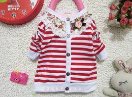 Wholesale Mixed Kids Clothes - Wholesale -Kids clothing chidren's sweaters girl cardigan Girls stripe cardigan 6p l