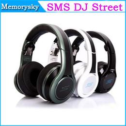 Wholesale Dj Headphones Performance Black - SMS Audio Street Limited Edition Pauly D Pro DJ Street by 50 Cent Performance DJ Headphones Wired Headphones On-Ear DJ Headsets 002141